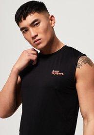 Superdry Camiseta sin mangas con logo pequeño Active