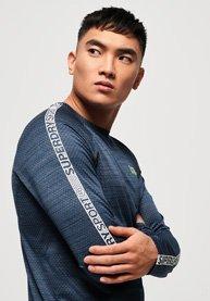Superdry T-shirt à manches longues Active Microvent