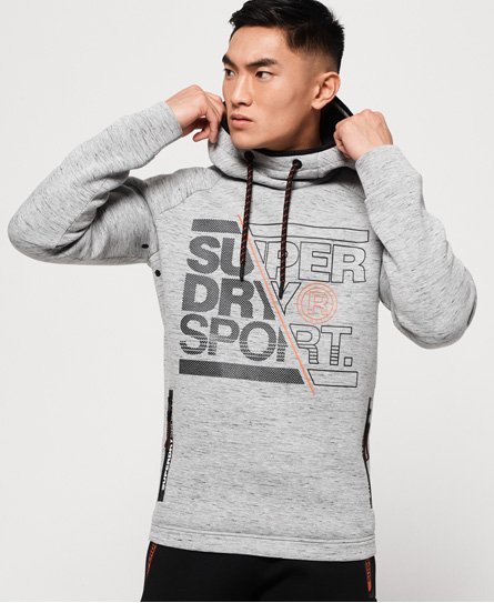 Superdry Gym Tech Stretch-Hoodie mit Grafik thumbnail 1