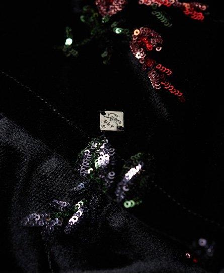 Superdry Melrose Velvet jurk met lovertjes