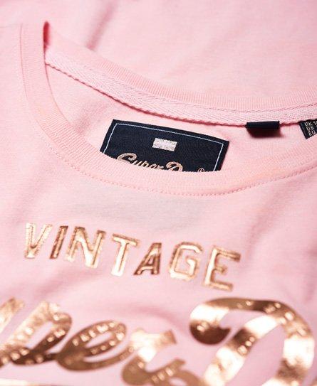 Superdry Premium Goods Puff Infill T-Shirt in Folienoptik