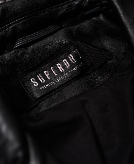 Superdry Giacca in pelle stile motociclista Rylee