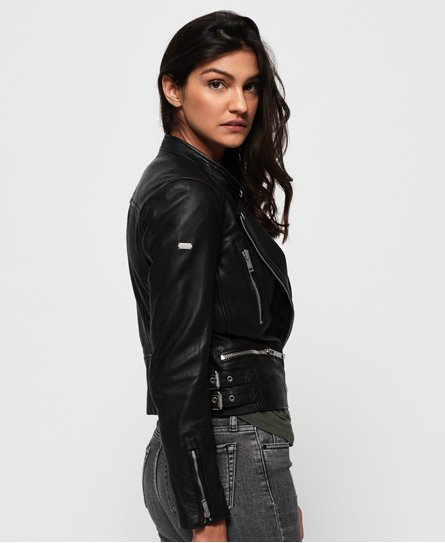 Superdry Lyla Leather Biker Jacket