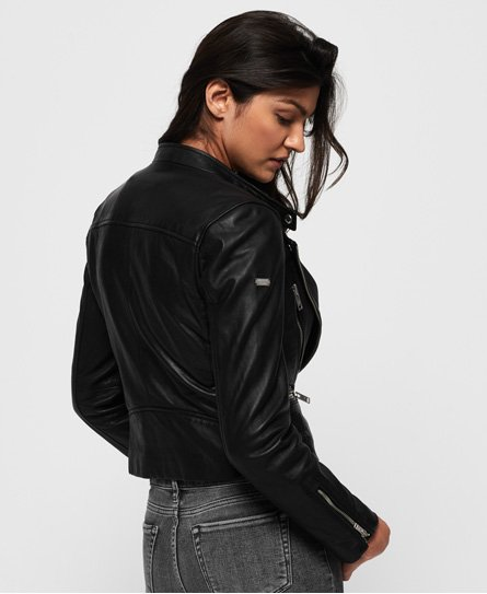 Superdry Lyla Leather Biker Jacket