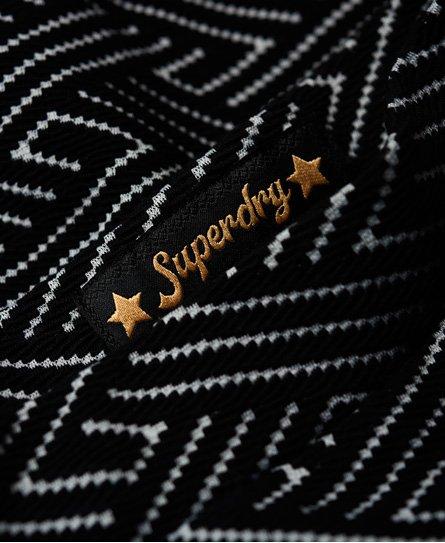 Superdry Falda skater con textura Riley