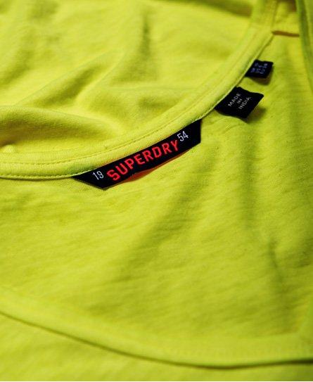 Superdry Burnout-mønstret T-shirt med V-hals