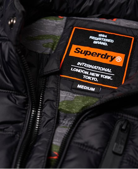 Superdry Commuter Quilted MC-jakke