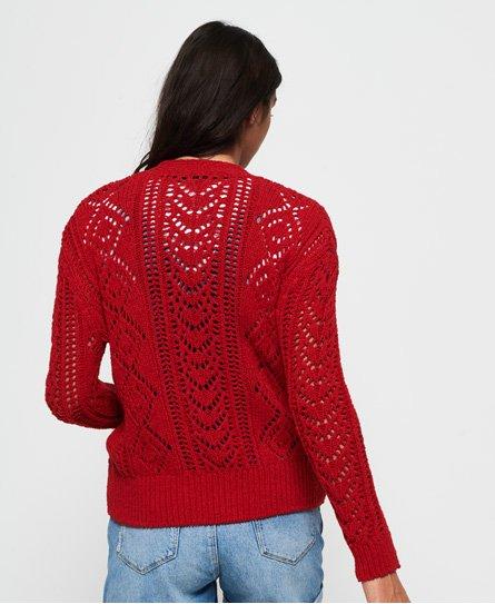 Superdry Cardigan à motifs pointelle texturés Amira