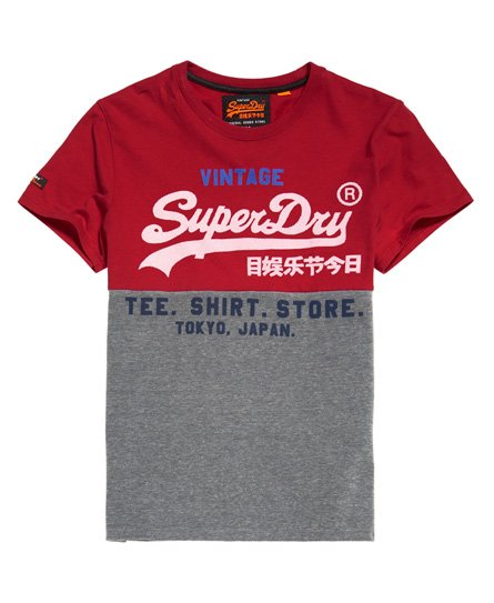 Superdry Shirt Shop Tri Panel T-Shirt