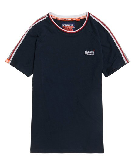 Superdry T-shirt a righe Orange Label Tipped Sports