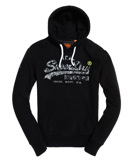 Superdry Sweat à capuche camouflage à logo Vintage