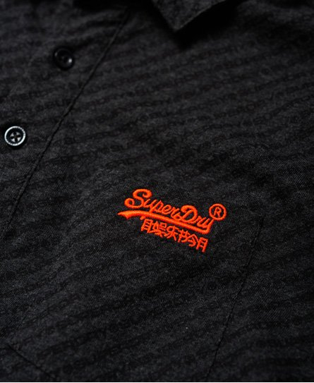 Superdry City All Over Print Pocket Jersey Polo Shirt