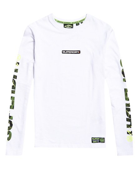 Superdry T-shirt camouflage à manches longues Trophy