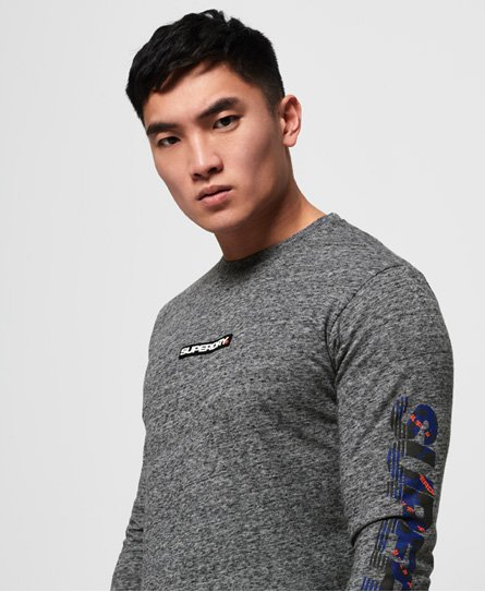 Superdry Langærmet Trophy T-shirt med camo-design
