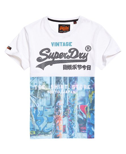 Superdry Kuviollinen Shirt Shop Panel -T-paita