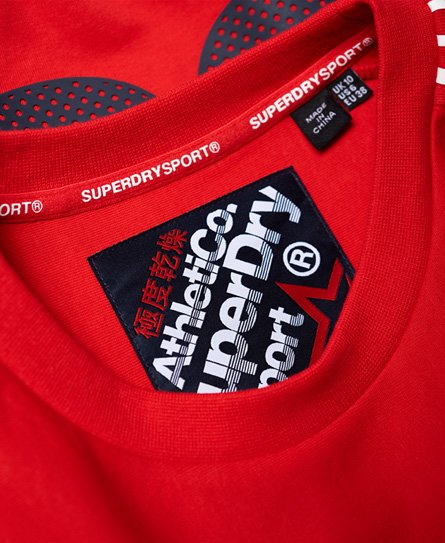Superdry Athletico Crop-collegenser med rund hals