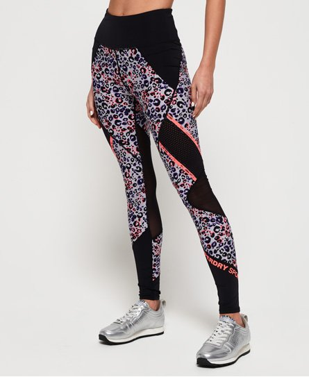 Superdry Legging à empiècements en filet Active