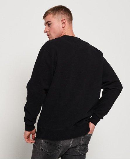 Superdry Schwarz-weißes International Sweatshirt in Übergröße