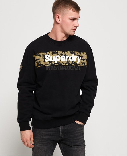 Superdry International oversized sweatshirt i monokromt design
