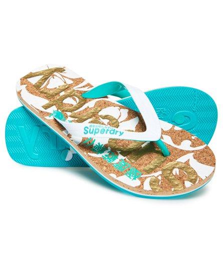 Superdry Flip-flop-sandaler i kork med trykk