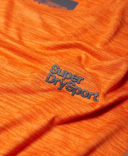 Superdry Active Trainings-T-Shirt mit kurzen Ärmeln