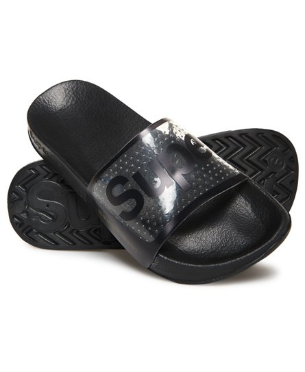Superdry Perforated Jelly Pool Sliders
