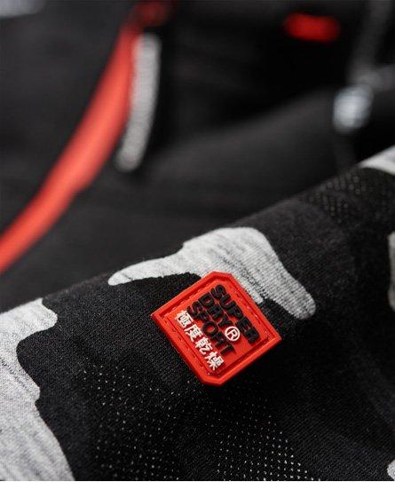Superdry Felpa con zip e cappuccio Gym Tech Stretch Camo