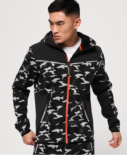 Superdry Gym Tech Stretch Camo Zip Hoodie