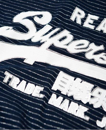 Superdry Vintage Logo T-shirt med glansfuldt stribedesign