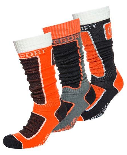 Superdry Lot de trois paires de chaussettes Snow