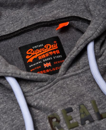 Superdry Sudadera con capucha de camuflaje y logo Vintage