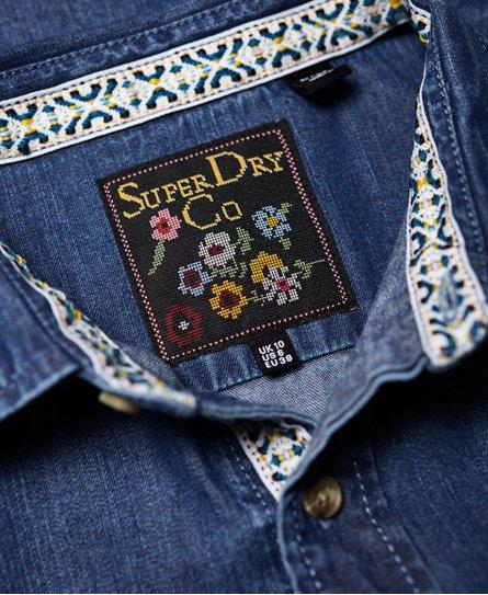 Superdry Chemise en jean à nouer