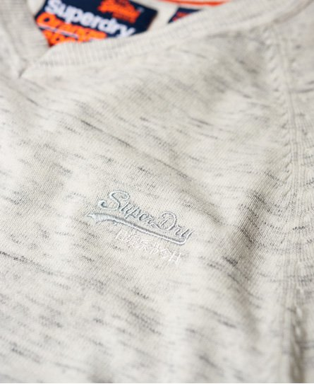 Superdry Jersey de algodón con cuello de pico Orange Label
