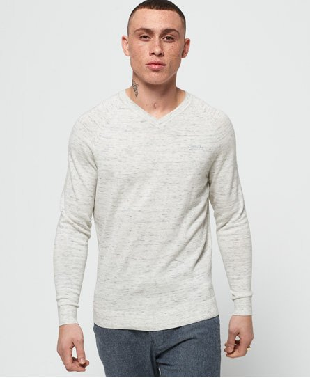 Superdry Orange Label Cotton Vee Neck Jumper