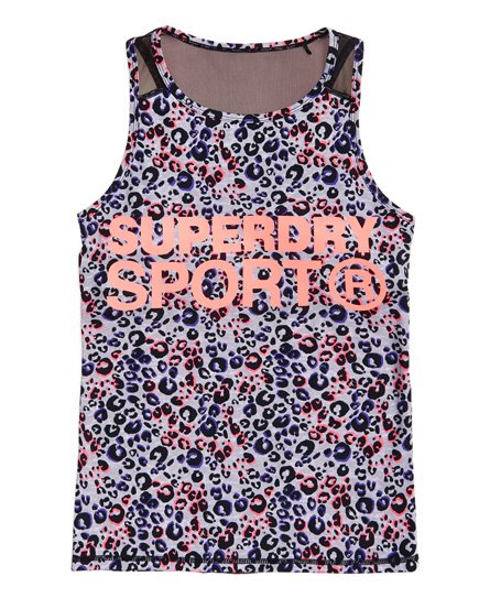 Superdry Canotta con inserti in mesh Active
