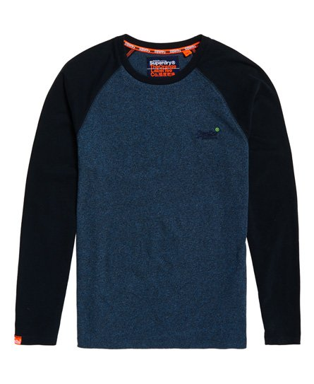 3ecfea570092 Superdry - T-shirt de baseball à manches longues Orange Label - T ...