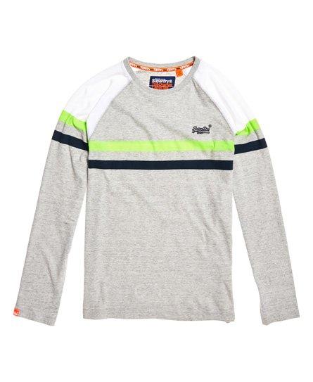 Superdry Orange Label Engineered Panel-T-skjorte med lange ermer