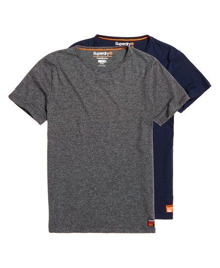 Superdry Schmal geschnittenes SD Laundry T-Shirt aus Bio-Baumwolle im 2er