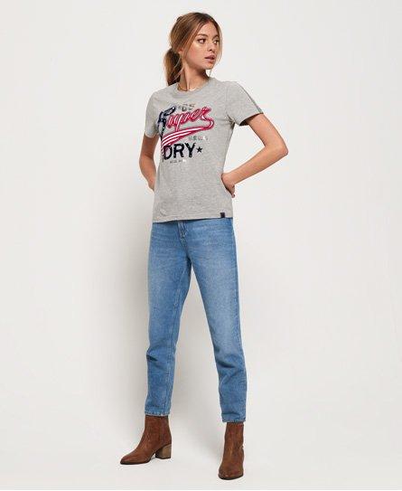 Superdry American Script T-shirt med flock-print