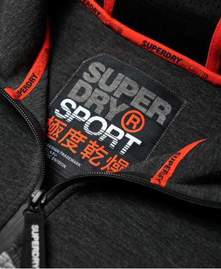 Superdry Gym Tech Spliced hettegenser med glidelås