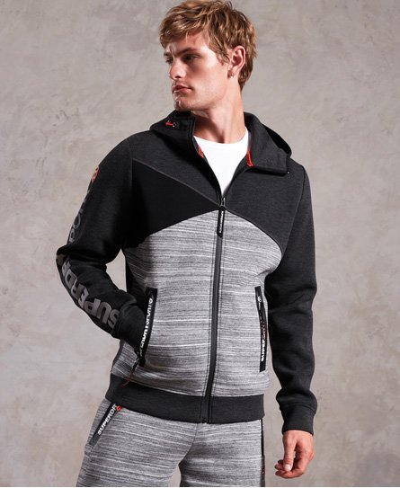 Superdry Sudadera con capucha y cremallera Gym Tech Spliced