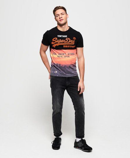 Superdry T-shirt Aop à empiècement Shirt Shop