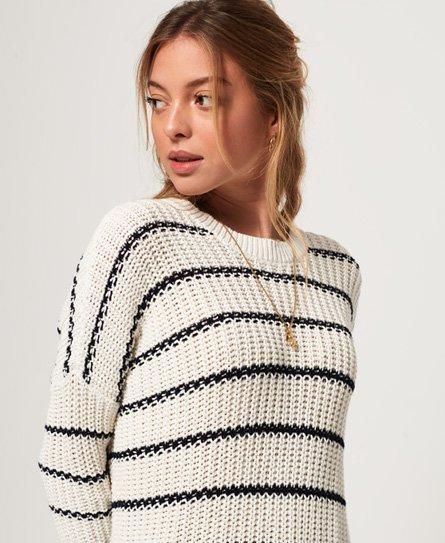 Superdry Elsie Slouch rundhalsad stickad tröja Tjejer Stickat