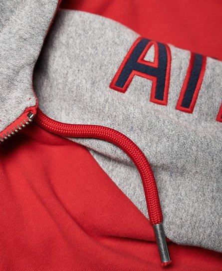 Superdry Applique Academy Raglan Contrast Zip Hoodie