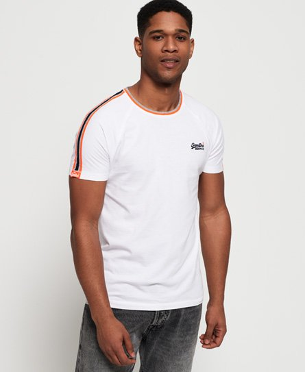 Superdry T-shirt rayé Orange Label Tipped Sports