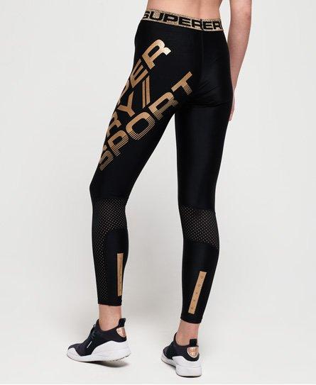 50417886b821 Γυναικεία - Αθλητικό Κολάν Bolt σε μαύρο/χρυσό | Superdry