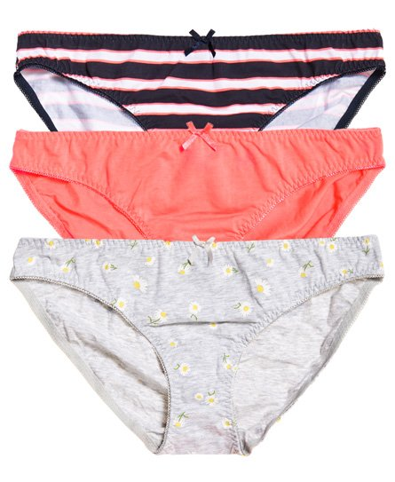 Superdry Lot de trois slips Super Standard