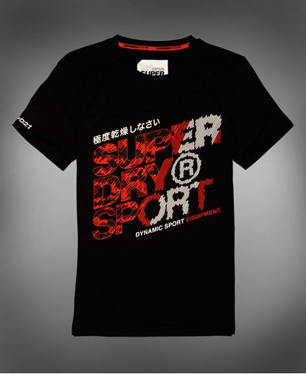 24b088b3e Mens - Active Graphic T-Shirt in Black | Superdry