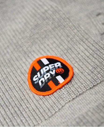 Superdry Pull à col ras du cou avec logo en relief Nu