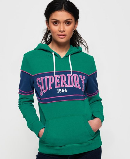 Superdry 1954 Mock Applique tunn huvtröja